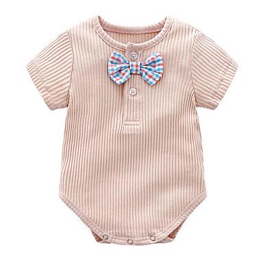 povoljno Odjeća za bebe-Dijete Djevojčice Osnovni Print Kratki rukav Pamuk bodysuit Bijela / Dijete koje je tek prohodalo