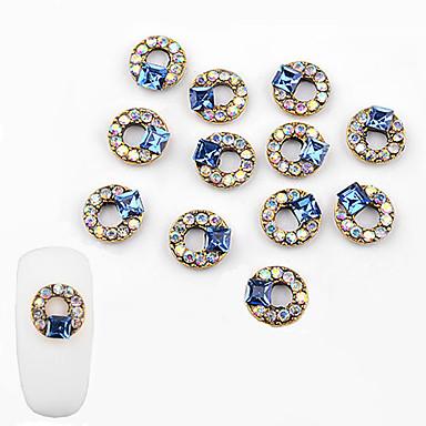 10 pcs Stilig Design Negle Smykker Til Neglekunst Manikyr pedikyr Diamant / rhinsteinpyntet etui / Nail Smykker
