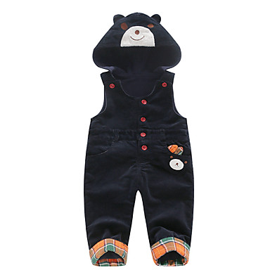 cheap Baby Boys' Bottoms-Baby Boys' Active Daily Patchwork Patchwork Cotton Overall & Jumpsuit Black / Toddler