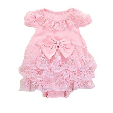 povoljno Odjeća za bebe-Dijete Djevojčice Ulični šik Jednobojni Kratki rukav Jednodijelno Obala
