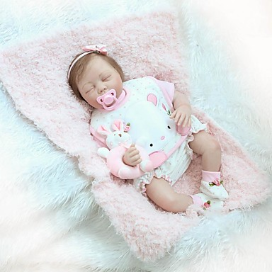 cheap Reborn Doll-OtardDolls 24 inch NPK DOLL Reborn Doll Girl Doll Baby Girl Reborn Toddler Doll Newborn lifelike Gift Child Safe Non Toxic Cloth 3/4 Silicone Limbs and Cotton Filled Body with Clothes and Accessories