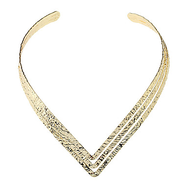 povoljno Modne ogrlice-Žene Choker oglice Laso dame Punk Moda zdepast Legura Zlato Pink 13 cm Ogrlice Jewelry 1pc Za Dnevno