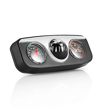 billige Interiørtilbehør til bilen-onever mini 3 in1 guide ball innebygd auto kompass termometer hygrometer dekorasjon ornamenter bil interiør tilbehør