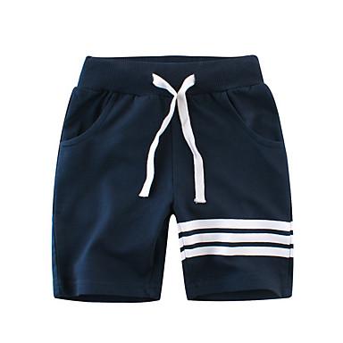 povoljno Hlače za dječake-Djeca Dječaci Osnovni Dnevno Kolaž Kolaž Pamuk Kratke hlače Sive boje