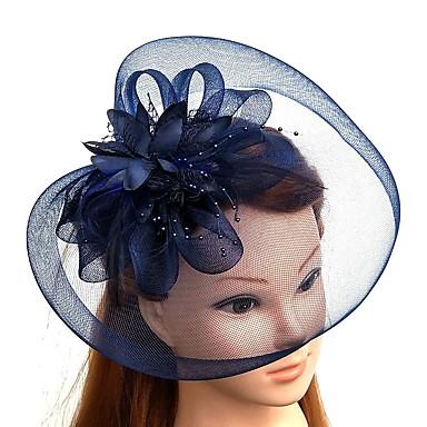 povoljno Party pokrivala za glavu-Perje / Net Kentucky Derby Hat / Fascinators / kape s Perje / Cvjetni print / Cvijet 1pc Vjenčanje / Special Occasion Glava