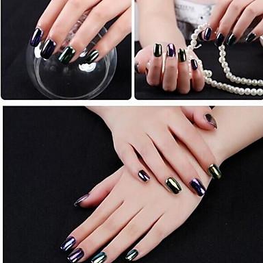 levne Nové přílety pro nehty-2pcs Glitter Flitry 6 barev nail art manikúra pedikúra Elegantní & luxusní / Zrcadlový efekt / Zářivé