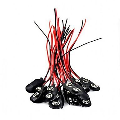 20pcs 9v jeg skriver batteri snap kontakt 9 volt batteriklemmer kontakt