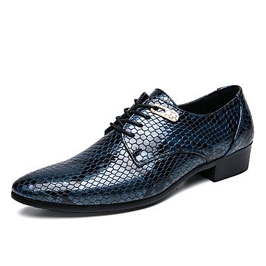 בגדי ריקוד גברים נעלי נוחות PU אביב קיץ עסקים / יום יומי נעלי אוקספורד ללא החלקה שחור / כחול ים