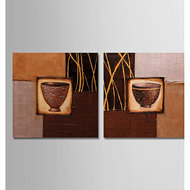 povoljno Ulja na platnu-Hang oslikana uljanim bojama Ručno oslikana - Sažetak Mrtva priroda Moderna Uključi Unutarnji okvir / Prošireni platno