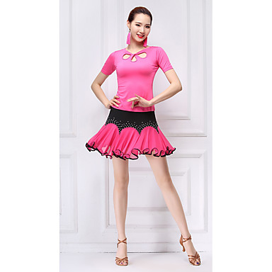 ee41d66e8 Latin Dance Outfits Women s Training Milk Fiber Crystals ...