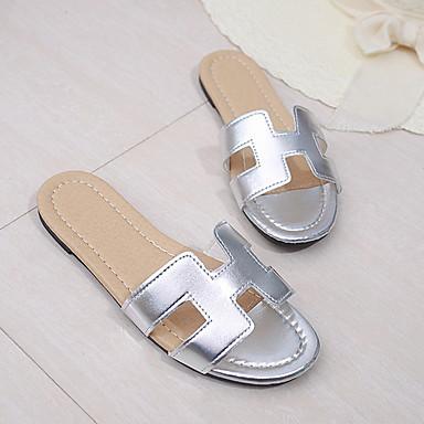 preiswerte Pantoffeln-Damenhausschuhe Pantoffeln / Pantoffel Ordinär PU Einheitliche Farbe Schuhe