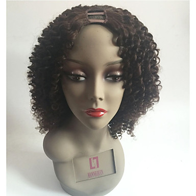 Remy Human Hair U Part Wig Layered Haircut Middle Part Style