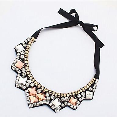 povoljno Modne ogrlice-Žene Ogrlice-kragna Laso dame Moda Umjetno drago kamenje Svila Zlato 42 cm Ogrlice Jewelry 1pc Za Dnevno