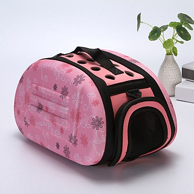 b87f2005a2 Dogs Rabbits Cats Cages Carrier & Travel Backpack Shoulder Messenger Bag  Pet Carrier Portable Mini Camping & Hiking Geometric Fashion Lolita Gray  Pink Black ...