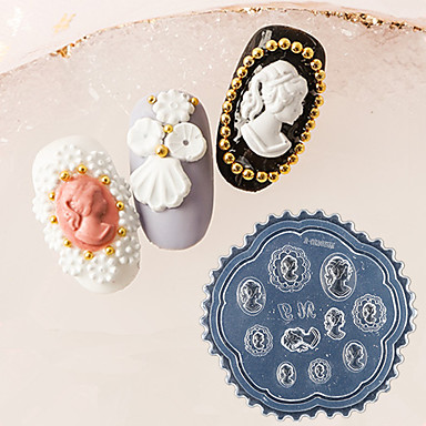 1 pcs Nail Stamping Tool Mal Stilig Design Neglekunst Manikyr pedikyr Retro Rød / Elegant Dagligdagstøy