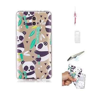 Etui Til Huawei Mate 10 Gjennomsiktig Bakdeksel Panda Myk TPU