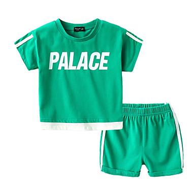 preiswerte Kleidersets für Jungen-Baby Jungen Grundlegend Solide Kurzarm Kleidungs Set Schwarz
