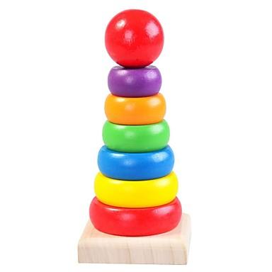 preiswerte Holzpuzzle-Holzpuzzle Turm Praktische Grip / Eltern-Kind-Interaktion Hölzern 8 pcs Vorschule Geschenk