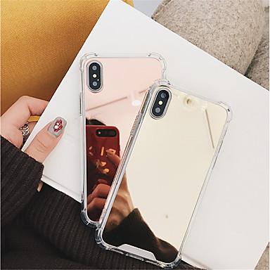 povoljno iPhone maske-Θήκη Za Apple iPhone X / iPhone 8 Plus / iPhone 8 Otporno na trešnju / Zrcalo Stražnja maska Jednobojni Tvrdo PC
