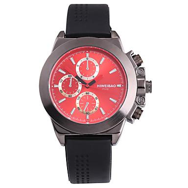 levne Pánské-SHI WEI BAO Pánské Sportovní hodinky Vojenské hodinky Náramkové hodinky japonština Křemenný Silikon Černá Punk Velký ciferník Analogové Na běžné nošení Módní - Černá Červená Modrá Jeden rok Životnost