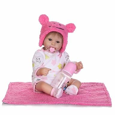 NPKCOLLECTION Reborn Doll Baby Girl 18 Inch Lifelike Cute Artificial Implantation Brown Eyes Kids Girls Toy Gift 6765470 2018 6499