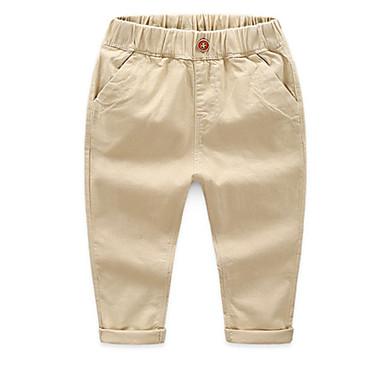 povoljno Odjeća za dječake-Djeca Dječaci Osnovni Dnevno Jednobojni Pamuk Hlače Navy Plava