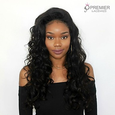 Virgin Human Hair 360 Frontal Wig With Ponytail style Brazilian Hair Wavy  Wig 150% Density with Baby Hair Women Natural Women s Long Human Hair Lace  Wig ... 5fab26cf8b