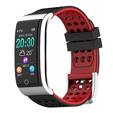 cheap Smart Activity Trackers & Wristbands-E08 Smart Wristband Bluetooth Fitness Tracker Support Notify/ Heart Rate Monitor Waterproof Sports Smartwatch Compatible Samsung/ Android/iPhone