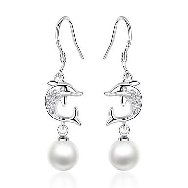 povoljno Modne naušnice-Žene Viseće naušnice Dupin dame Crtići Moda Naušnice Jewelry Pink Za Dnevno Spoj 1 par