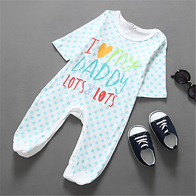dc83966f6722 Baby Boys  Basic Polka Dot Short Sleeves Polyester Romper White 9-12 ...