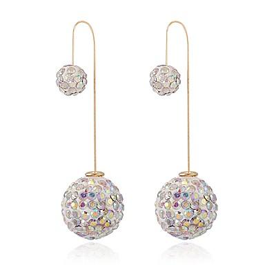 levne Dámské šperky-Dámské Peckové náušnice Dlouhé Koule dva kameny dámy Vintage Módní Elegantní Náušnice Šperky Bílá / Černá / Modrá Pro Párty Jdeme ven 1 Pair
