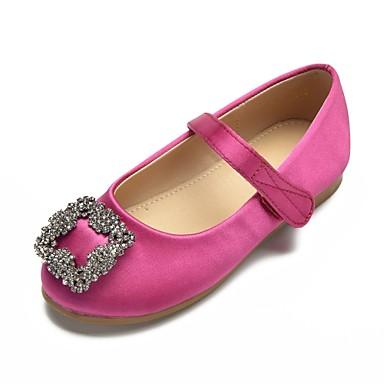 0cb697bfe24 Girls  Shoes Satin Spring   Summer Ballerina   Flower Girl Shoes Flats  Rhinestone   Sparkling Glitter   Magic Tape for Kids Green   Pink   Ivory    Wedding ...