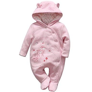 preiswerte Meist Verkaufte-Baby Mädchen Aktiv Solide Langarm Einzelteil Rosa
