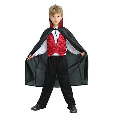cosplay Kostým Dětské Chlapecké Halloween Halloween Karneval Den dětí  Festival   Svátek Polyester Černá Karnevalové kostýmy Jednobarevné  Halloween 6797070 ... b4dc8e00863