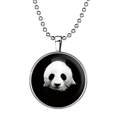 povoljno Modne ogrlice-Žene Svjetleći kamen Ogrlice s privjeskom Long Panda dame Crtići Moda Legura Plava 60 cm Ogrlice Jewelry 1pc Za Halloween Klub