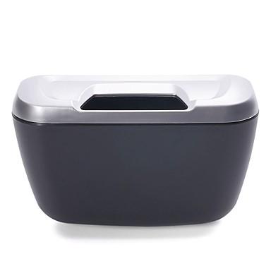 levne Organizéry do auta-ziqiao vozidlo auto auto odpadky odpad může prach odpadkový koš skladovací box kontejner - stříbro
