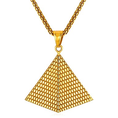 levne Pánské šperky-Pánské Náhrdelníky s přívěšky Klasika kreativita Klasické Nerez Zlatá Stříbrná 55 cm Náhrdelníky Šperky 1ks Pro Dar Denní