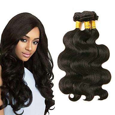 povoljno Ekstenzije za kosu-3 paketa Peruanska kosa Tijelo Wave Ljudska kosa Headpiece Ljudske kose plete Produžetak 8-28 inch Crna Prirodna boja Isprepliće ljudske kose Najbolja kvaliteta Novi Dolazak Rasprodaja Proširenja