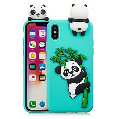 povoljno iPhone maske-Θήκη Za Apple iPhone X / iPhone 8 Plus / iPhone 8 Uradi sam Stražnja maska Panda Mekano TPU