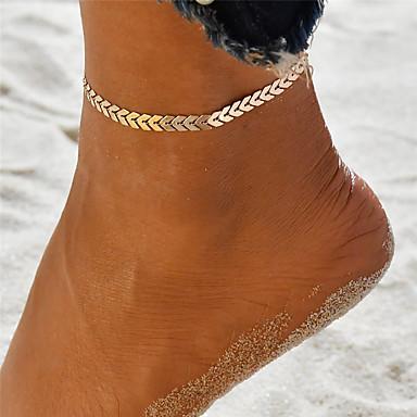 levne Dámské šperky-Dámské Nákotník kotník náramek šperky na nohy Jóga Vlna dámy Jedinečný design Cikánské Módní Nákotník Šperky Zlatá / Stříbrná Pro Dovolená Jdeme ven