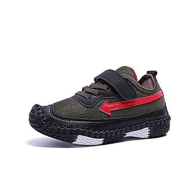 Chico Zapatos Malla Primavera verano Confort Zapatillas de Atletismo Tenis    Paseo Con Cordón para Niños Verde Ejército   Azul   Rosa   Bloques   Goma  ... 10e310b900993