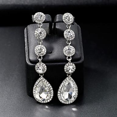 povoljno Naušnice-Žene Viseće naušnice Sa stilom Europska Moda Naušnice Jewelry Pink Za Vjenčanje Dnevno 1 par