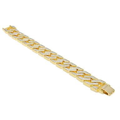 levne Pánské šperky-Pánské Náramek Silný řetězec Drak kreativita Moderní Casual / Sportovní Rokové Slitina Náramek šperky Zlatá Pro Street Bar