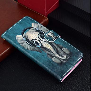 povoljno iPhone maske-Θήκη Za Apple iPhone X / iPhone 8 Plus / iPhone 8 Novčanik / Utor za kartice / sa stalkom Korice Životinja / Slon Tvrdo PU koža