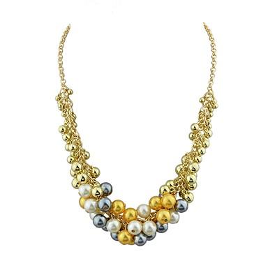 povoljno Modne ogrlice-Žene Ogrlica od perla Debeli lanac Jednostavan Moda Legura Obala Duga 53.5 cm Ogrlice Jewelry 1pc Za Zabava / večer Škola