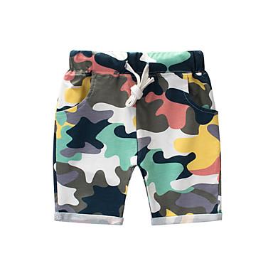 povoljno Odjeća za dječake-Djeca Dječaci Vintage Jednobojni Pamuk Kratke hlače Duga