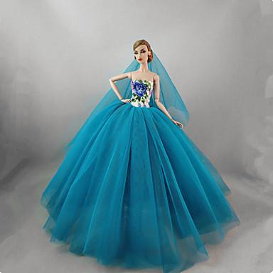 Ruhák Ruha mert Barbi baba Kék Tüll   Csipke   Selyem   pamut keverék Ruha  mert Lány Doll Toy 6821227 2019 –  7.99 21cb1c0d2e