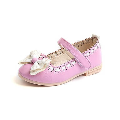3c3d98787a4a ADOR® Girls  Shoes Faux Leather Spring   Fall Comfort   Flower Girl Shoes  Flats Bowknot   Magic Tape for Kids White   Dark Blue   Pink   Party    Evening ...