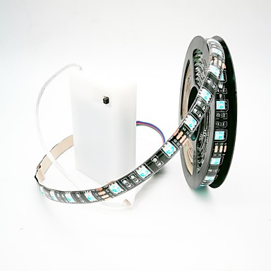 Zdm 200cm Waterproof Led Light Rgb Strip Aa Battery Box