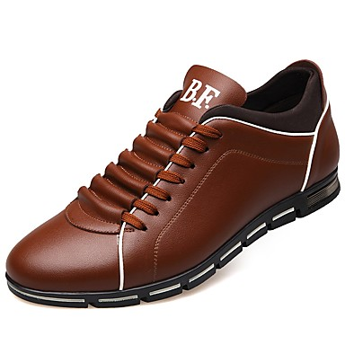 cheap Men's Sneakers-Men's Comfort Shoes Faux Leather Fall Sneakers Black / Yellow / Red / Outdoor